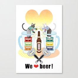 We love beer!(remake) Canvas Print