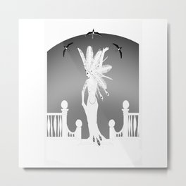 White Mischief Metal Print