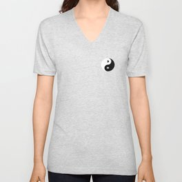 Yin and Pacman Unisex V-Neck