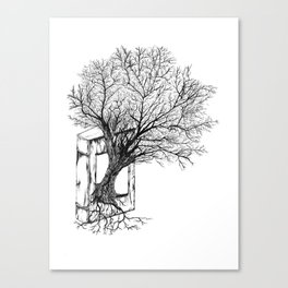 Replacing Nature with Knowledge Canvas Print
