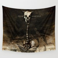satan Wall Tapestries featuring Rigor Coagula by Artworks by PabloZarate Inc.