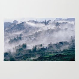 Foggy Mountain of Sa Pa in VIETNAM Rug