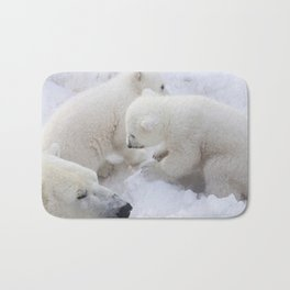 polar bear cub Bath Mat