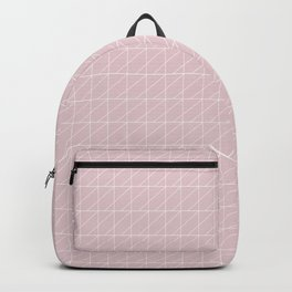 Pastel Pink and White Industrial Manchester Railways Backpack