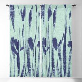 Indigo Irises Blackout Curtain