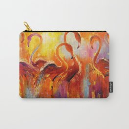 Graceful flamingos Carry-All Pouch