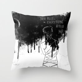Cash Rules Throw Pillow