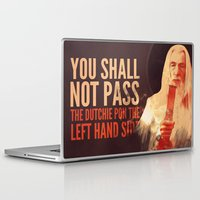 gandalf Laptop & iPad Skins featuring Gandalf - Lord of the Bongs by Nicholas Redfunkovich