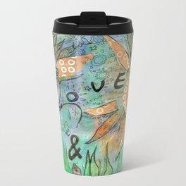 peace, love and music Metal Travel Mug