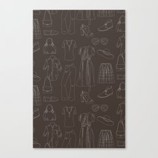 a closet full of clothes Canvas Print