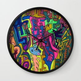 A World with Color! Wall Clock
