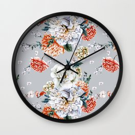 Blooming Flowers I Wall Clock