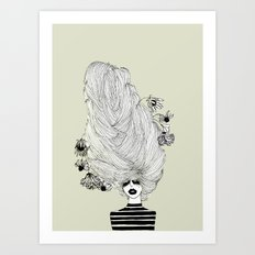Hair Overload Art Print