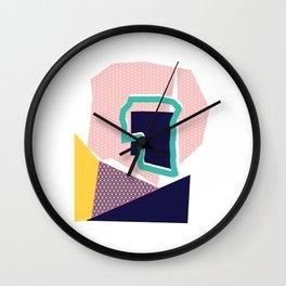 Geo Tile ii Wall Clock