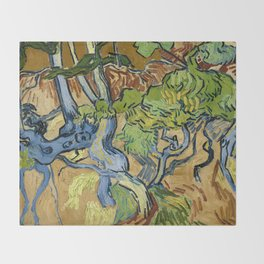 Tree Roots by Vincent van Gogh (July 1890) Throw Blanket