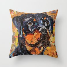 Samson The Rottie Throw Pillow