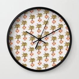 vase plant skull Wall Clock