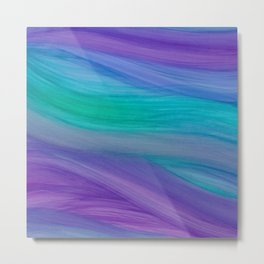 Mermaid Ocean Waves Metal Print