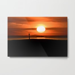 Isle of Anglesey View of Ireland Mountains Sunset Metal Print