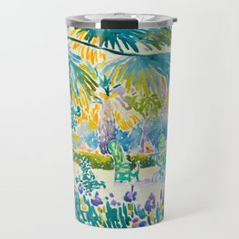 Henri-Edmond Cross Neo-Impressionism Pointillism Garden of the Painter at Saint Clair 1908 Travel Mug