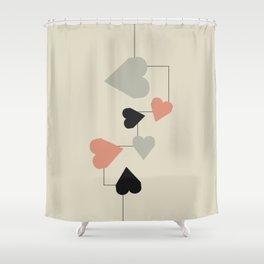 heart map Shower Curtain