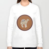camel Long Sleeve T-shirts featuring camel by johanna strahl