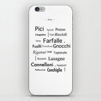 pasta iPhone & iPod Skins featuring Pasta by PintoQuiff