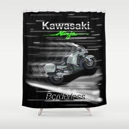 Speed Extreme Kawasaki Shower Curtain