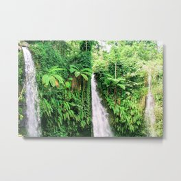 Lombok, Indonesia: Waterfall Metal Print