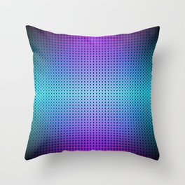 Dark teal purple black ombre hexagon grid Throw Pillow