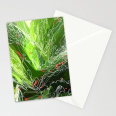 green explosion Stationery Cards