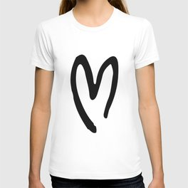 Black and White Heart T-shirt