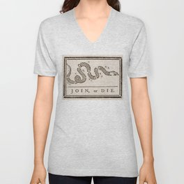 Join or Die Eight Colonies Unisex V-Neck