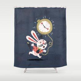 White Rabbit - Alice in Wonderland Shower Curtain