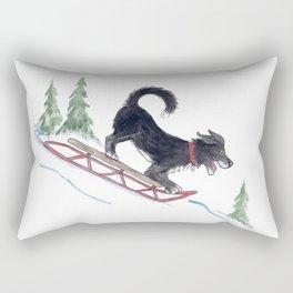 Dog Sledding 1 Rectangular Pillow