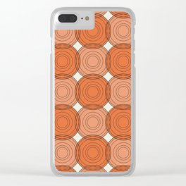 Red & Orange Circles Clear iPhone Case