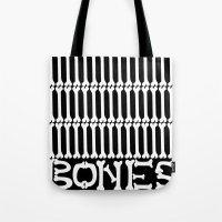 bones Tote Bags featuring Bones by Sara Eshak