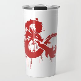 Dungeons & Dragons Stylized Logo (red) Travel Mug