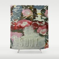 soul Shower Curtains featuring Soul by drskippyart