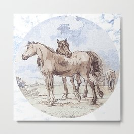 Companions - horse love Metal Print