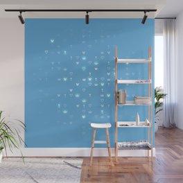 Kingdom Hearts Blue Pattern Wall Mural