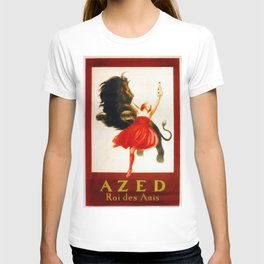 Vintage poster french king Anis Azed T-shirt