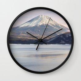 Mt Fuji & Lake Motosu Wall Clock