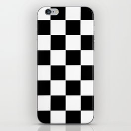 Checker Cross Squares Black & White iPhone Skin