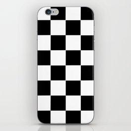 Checker Cross Squares Black & White iPhone Skin