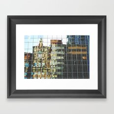 urban reflections Framed Art Print