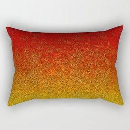 Flame Glitter Gradient Rectangular Pillow