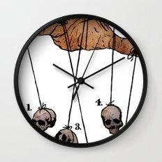 The Five Dancing Skulls Of Doom Wall Clock