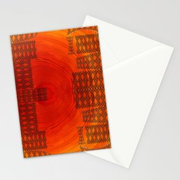 City in a morning Stationery Cards