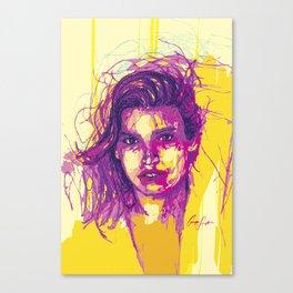 Digital Drawing #21 - Gia Marie Carangi Canvas Print